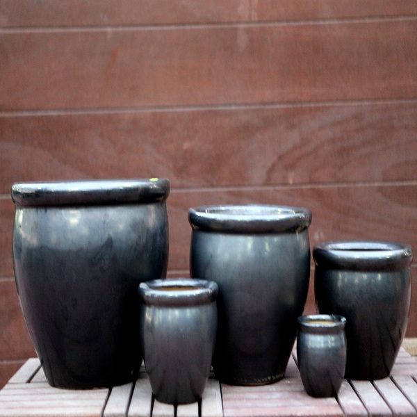 Dark Gray Ceramic Pots M-CP-50H-IP