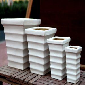 White Ceramic Pots M-CP-83-IP